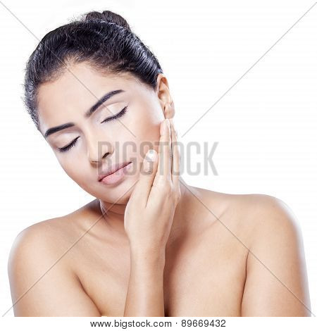 Lovely Woman With Natural Skin