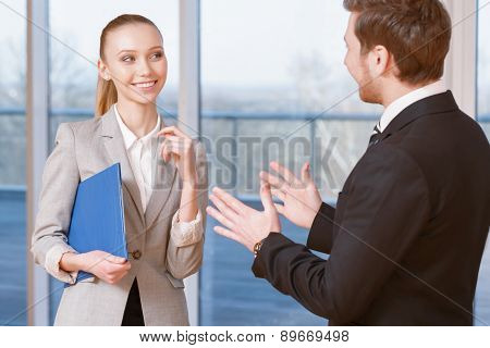 Business people discussing business matters