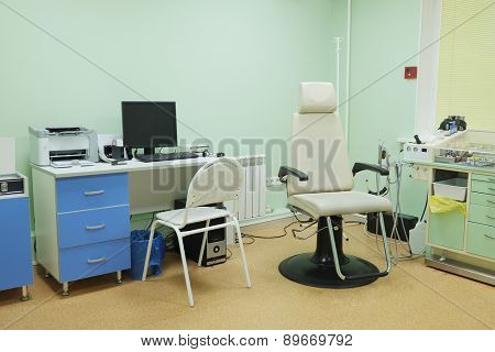 Interior of a ENT consulting room