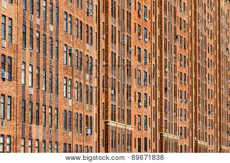 New York City Apartment Building Background
