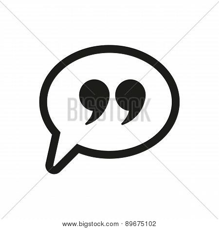 Quotation Mark Speech Bubble Symbol