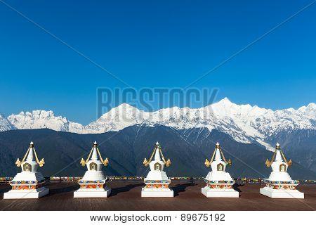 Meili Snow Mountain In Yunnan China