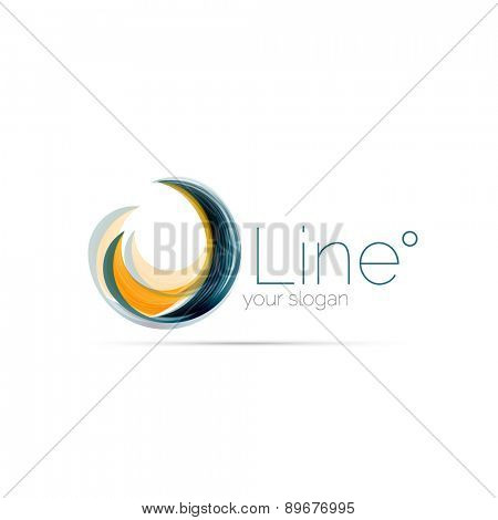 Swirl company logo design. Universal for all ideas and concepts. Business creative icon