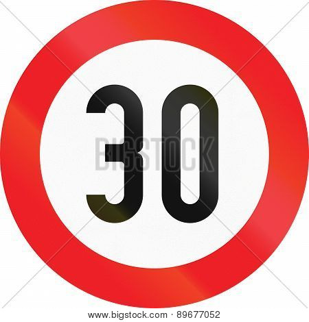 Speed Limit 30 In Austria