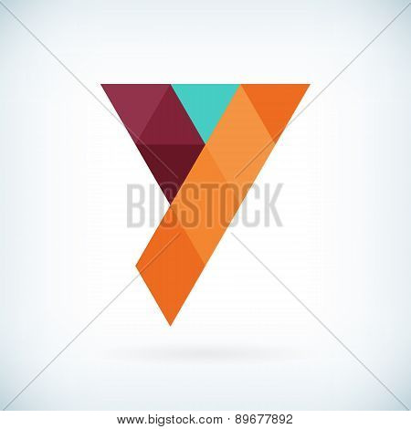 Modern Letter Y Icon Flat Design Element Template