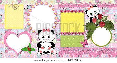 Scrapbook Page Kids Design