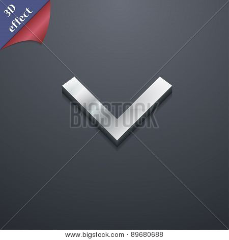 Arrow Down, Download, Load, Backup Icon Symbol. 3D Style. Trendy, Modern Design With Space For Your