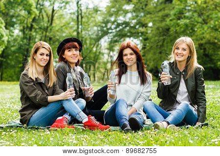 Refreshment for young girls