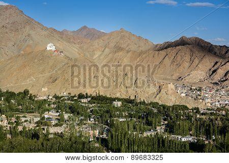 Namgyal Tsemo Gompa And Leh Village, Ladakh, India
