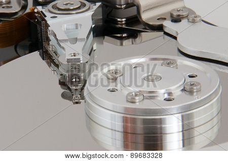 Closeup View Of Hdd Cylinder