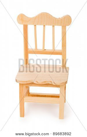 Toy chair isolated on white background