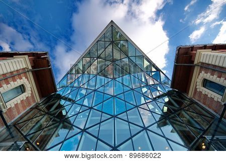 Budapest, Hungary - January 31, 2015: Modern Whale Shaped Building Called