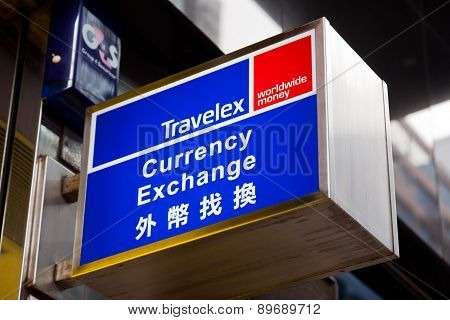 Sign of Travelex currency exchange