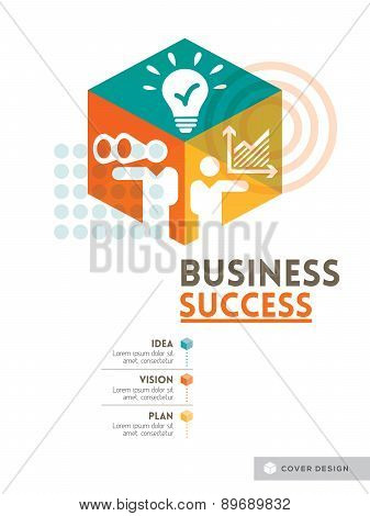 Cubic Business Success Concept Background Design Layout For Poster Cover Brochure