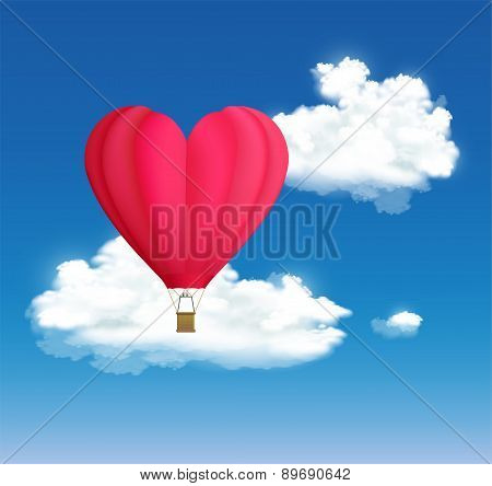 Hot Air Balloon In The Shape Of Heart