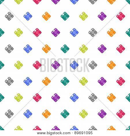 Cartoon Gems White Seamless Pattern