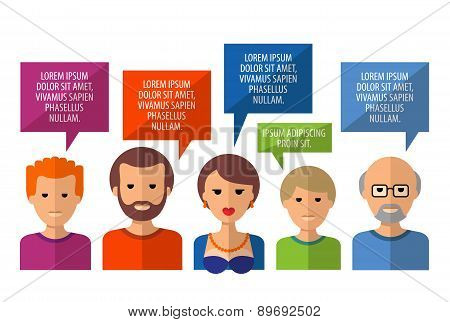 conversation vector logo design template. society or people icon.