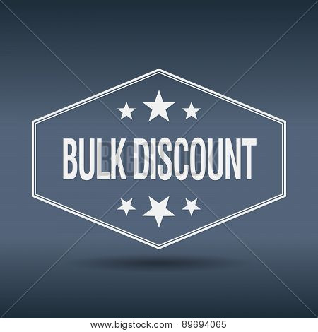 Bulk Discount Hexagonal White Vintage Retro Style Label