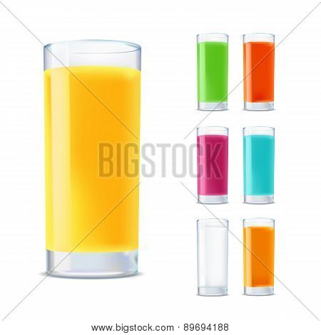 Set Of Glasses With Juice