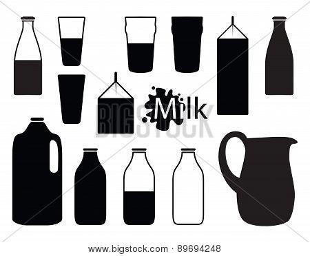 milk silhouettes