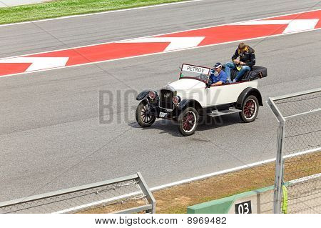 BARCELONA- MAY 9: Vitaly Petrov of Renault on parade of pilots before a stage of race the Formula 1