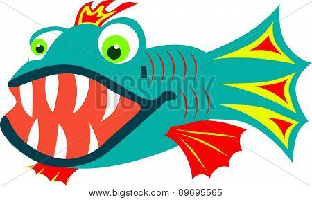 Fish with sharp teeth