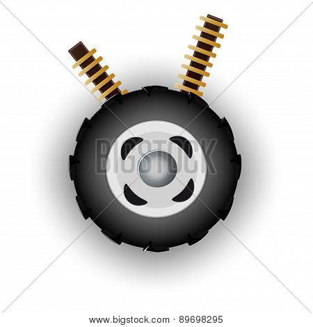 wheel vector illustration isolated on white background
