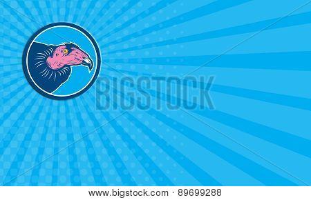 Business Card Vulture Head Circle Retro