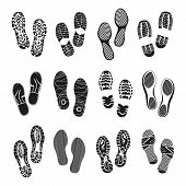 picture of footprint  - Footprints - JPG