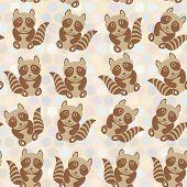 foto of raccoon  - Polka dot background pattern - JPG