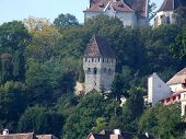 View Of The Medieval Citadel From Sighisoara poster