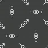 pic of gender  - Image of male and female gender signs repeated on grey background - JPG
