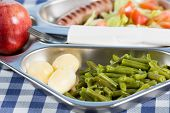 picture of canteen  - Tray of food in a school canteen - JPG