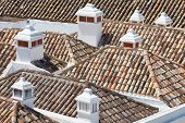 stock photo of faro  - Pretty old Roof tops within the City of Faro - JPG