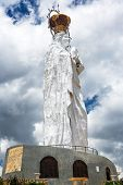 stock photo of mary  - White Virgin Mary statue in Concepcion Peru - JPG