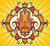 foto of hamsa  - Decorative Hand hamsa - JPG