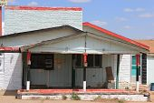 pic of motel  - forgotten motel which was once thriving because of its prime location on the historic route 66 taken in Tucumcari - JPG