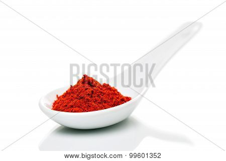Paprika (capsicum) Powder On A Spoons