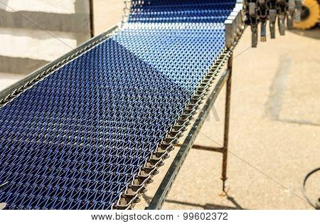 Belt Conveyor As Industrial Detail