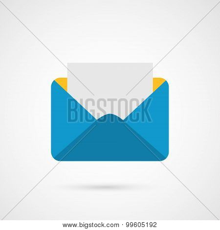 Envelope Mail. E-mail vector icon.