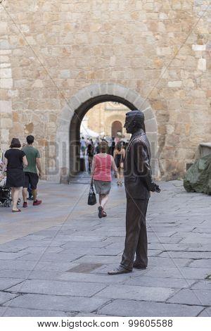 Statue Of Adolfo Suárez González, Avila, Spain