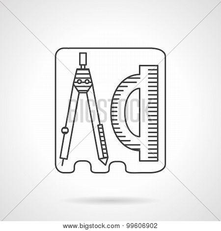 Line vector icon geometry