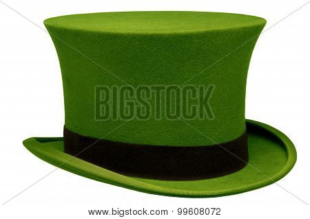 Vintage Green Top Hat