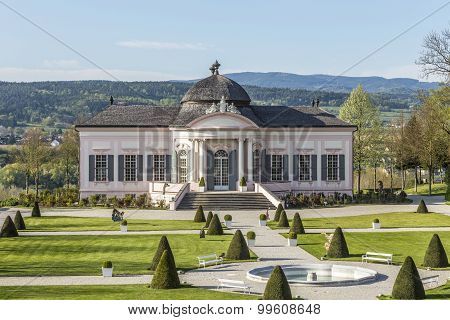 Stifts Park With Garden Pavillion At Famous Convent In Melk