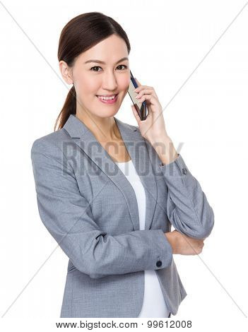 Asian businesswoman talk to mobile phone