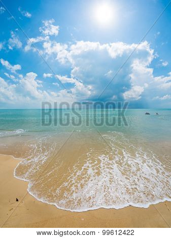 A beautiful beach and tropical sea