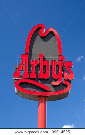 Arby's Restaurant Sign And Exterior