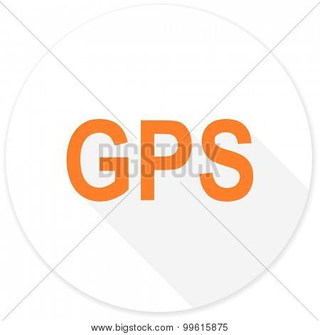 gps flat design modern icon with long shadow for web and mobile app