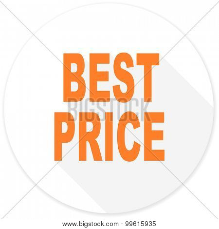 best price flat design modern icon with long shadow for web and mobile app