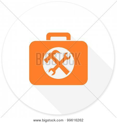 toolkit flat design modern icon with long shadow for web and mobile app